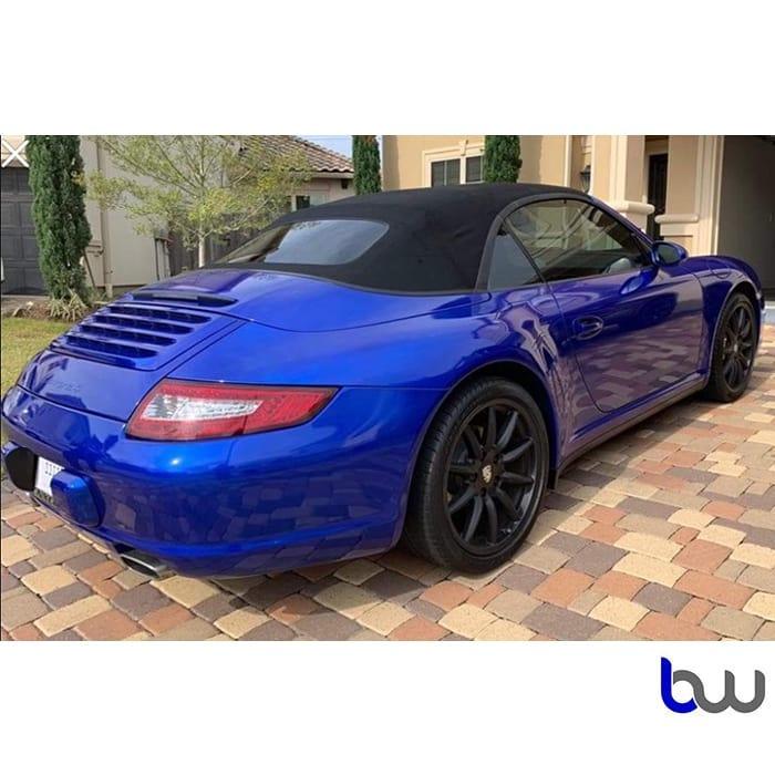 Porsche Carrera Wrapped In 3m 1080 Gloss Cosmic Blue Vinyl