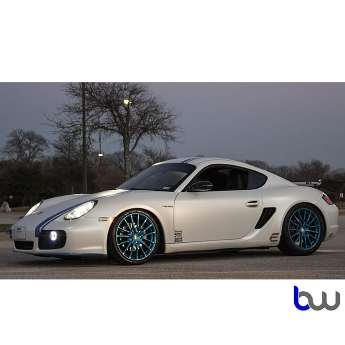 Porsche Cayman Wrapped in Avery SW Satin Pearl White Vinyl