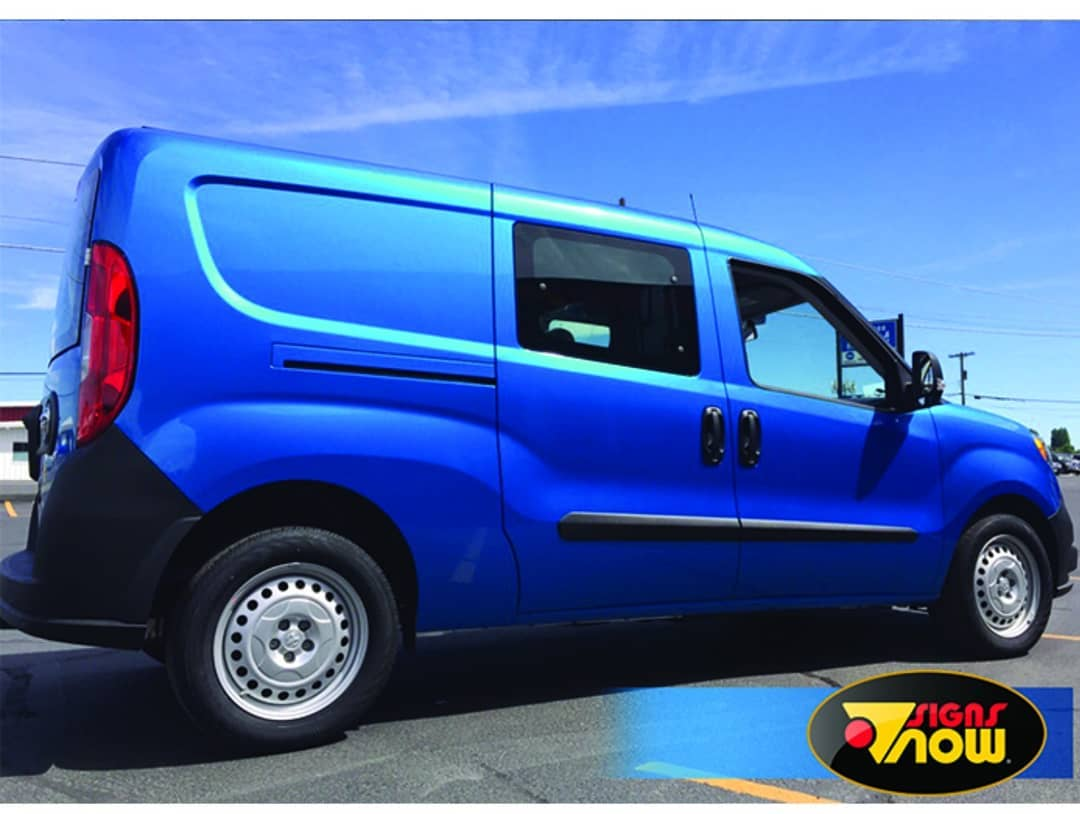 Ram ProMaster Wrapped in Avery SW Gloss Bright Blue Metallic