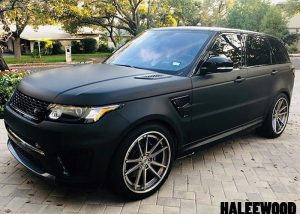 Range Rover Wrapped in 3M 1080 Matte Deep Black Vinyl