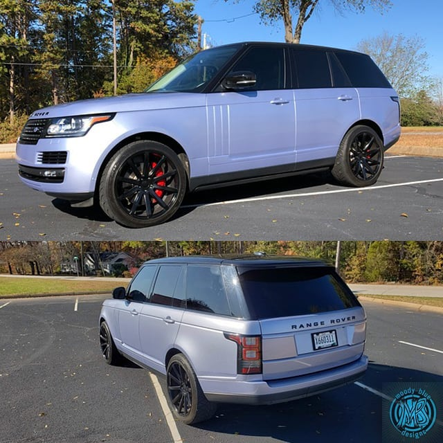 Range Rover Wrapped in Avery SW Gloss Quick Silver Metallic Vinyl