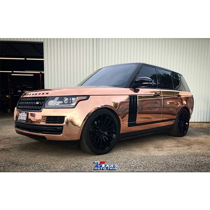 Range Rover Wrapped in Avery SW Rose Gold Chrome Vinyl