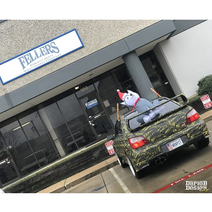 Subaru WRX Wrapped in Custom Printed Avery 1105 and 138oz Matte Laminate
