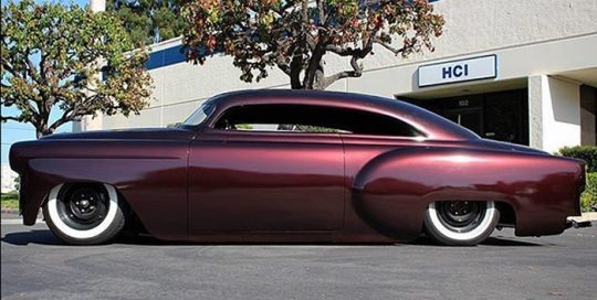53 Chevy wrapped in M 1080 Gloss Black Rose vinyl