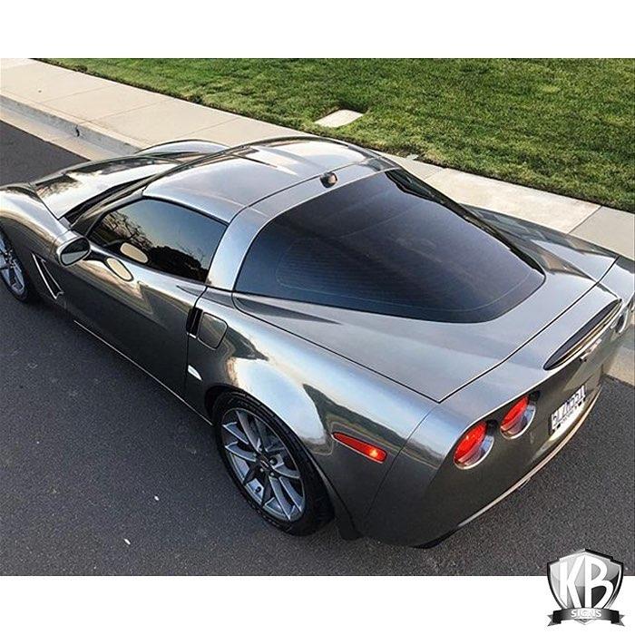 Corvette wrraped in Avery SW Black Chrome vinyl
