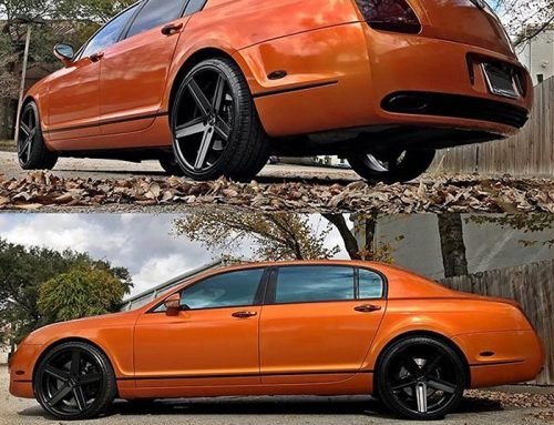 Bentley FlyingSpur wrapped in 3M 1080 Gloss Liquid Copper vinyl