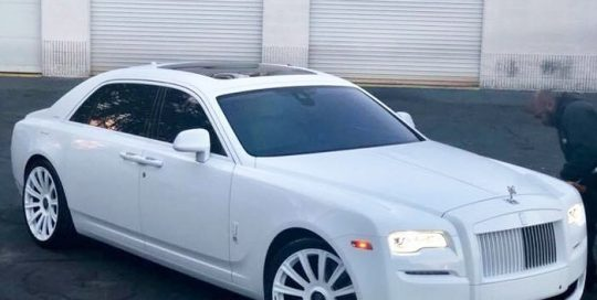 Rolls Royce Ghost wrapped in Avery SW Gloss White and Satin White vinyls
