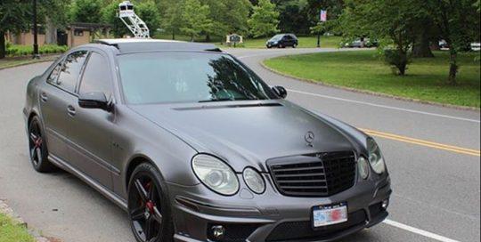 Mercedes Benz E63 3M 1080 Satin Dark Gray vinyl