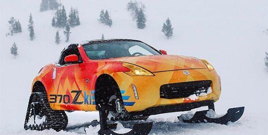Nissan 370zki wrapped in ustom printed 3M IJ180Cv3 vinyl