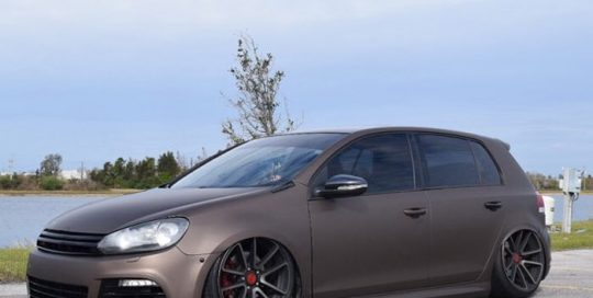 Volkswagen Gti wrapped in 3M 1080 Matte Brown Metallic vinyl