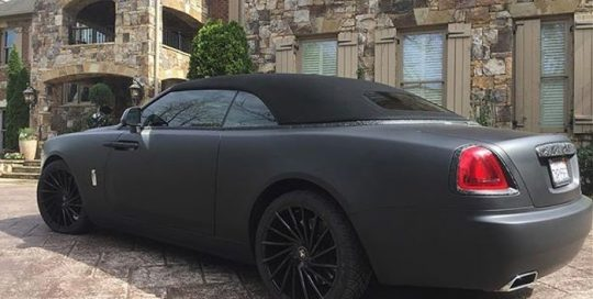 Rolls Royce wrapped in 3M 1080 Matte Deep Black vinyl