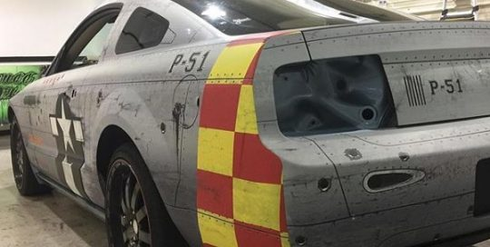 Ford Mustang wrapped in Avery 1105 EZRS vinyl