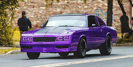 Chevrolet Monterclaro wrapped in 3M 1080 Gloss Plum Explosion vinyl