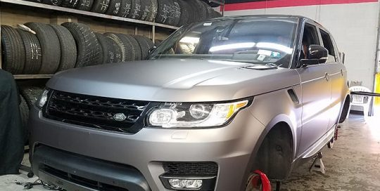 Land Rover wrapped in 3M 1080 Matte Dark Gray vinyl