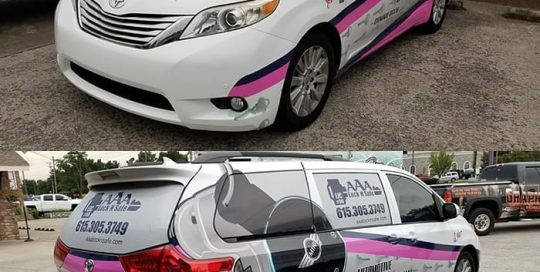 Commercial Van wrapped in custom printed Avery 1105ezrs and 1360z Gloss