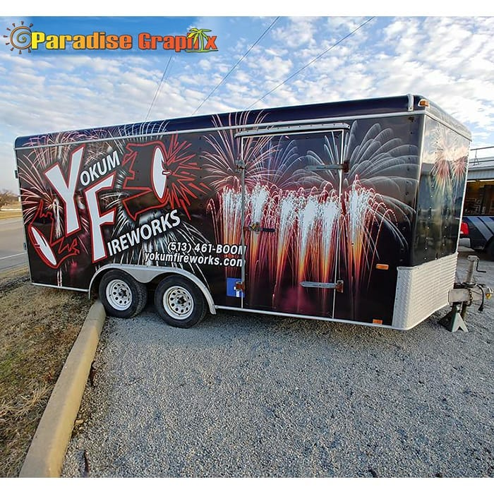 Commercial Trailer wrapped in Avery 1105ezrs vinyl with 1360z Gloss