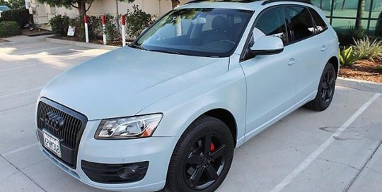 Audi Q5 wrapped in 3M 1080 Satin Battleship Gray and Satin Black vinyls