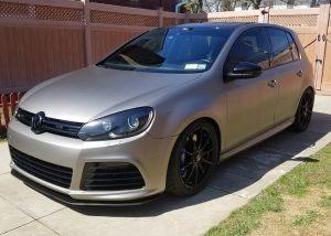 Volkswagen Golf wrapped in 3M 1080 Matte Gray Aluminum vinyl