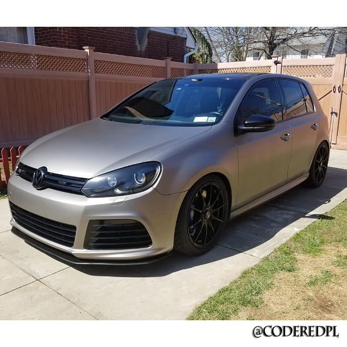 Volkswagen Golf wrapped in 3M 1080 Matte Gray Aluminum vinyl