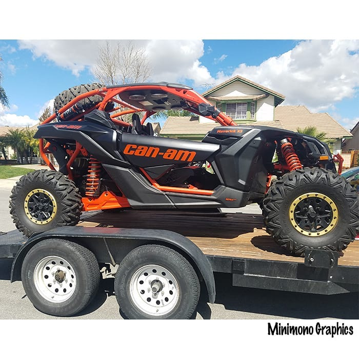 Canam wrapped in 3M 1080 Satin Black vinyl