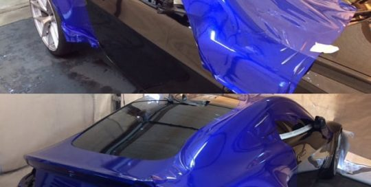 Astro Martin Vantage wrapped in 3M 1080 Gloss Cosmic Blue vinyl