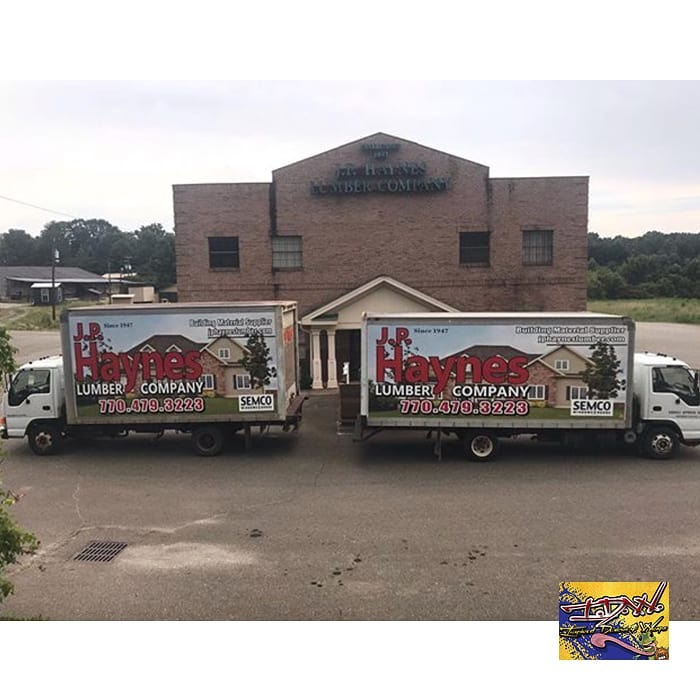 Commercial Trucks wrapped in printed Avery 1105ezrs vinyl