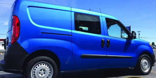 Commercial Van wrapped in Avery SW Gloss Bright Blue Metallic