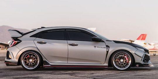 Honda CTR wrapped in 3M 1080 Satin Battleship Gray vinyl