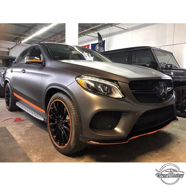 Mercedes Benz GLE wrapped in 3M 1080 Matte Dark Gray vinyl