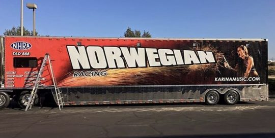 Commercial Trailer Truck wrapped in custom printed 3M IJ180C vinyl