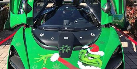 Mclaren Decals wrapped in custom printed 3M IJ180Cv3 with 8518 Gloss overlaminate and Avery Matte Green Apple Metallic