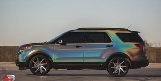 Ford Explorer wrapped in 3M ColorFlip Gloss Psychedelic shade shifting vinyl
