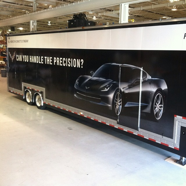 Trailer wrapped in 180C
