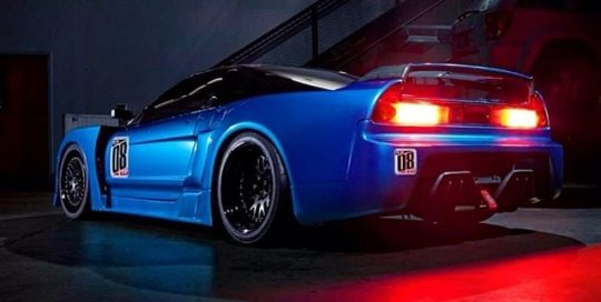 Acura NSX wrapped in Blue Metallic 1080 vinyl