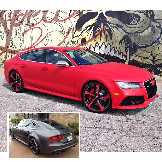 Audi rs7 wrapped in 600LX Matte F1Racing Red