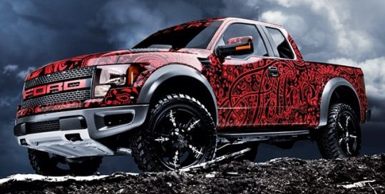 Ford Raptor wrapped in 180Cv3 vinyl