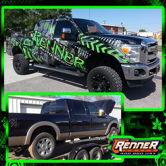Ford F150 wrapped in Avery MPI 1005 vinyl