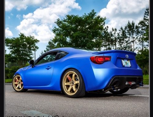 Scion FRS wraapped in Avery SW Brilliant Blue 671 Metallic vinyl