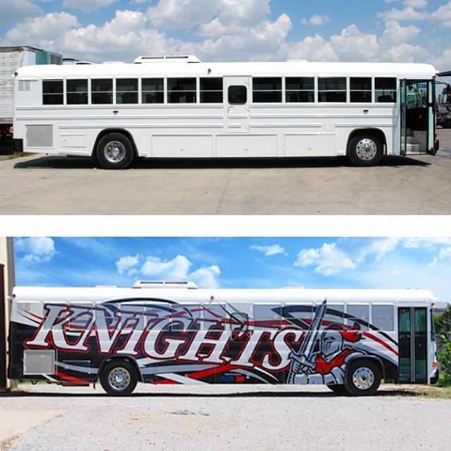 Bus wrapped in 180C vinyl
