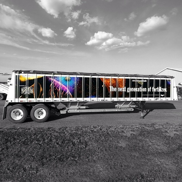 Trailer wrapped in printed on 180C