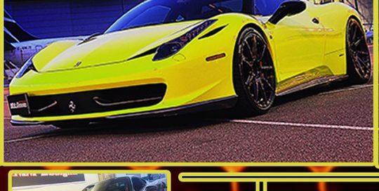 Ferrari 458 wrapped in Avery SW Lemon Yellow