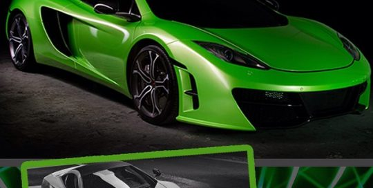 Maclaren MP4-12c50 wrapped in Avery SW Light Green Pearlescent vinyl