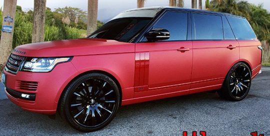 Range Rover Avery SW Matte Garnet Metallic vinyl