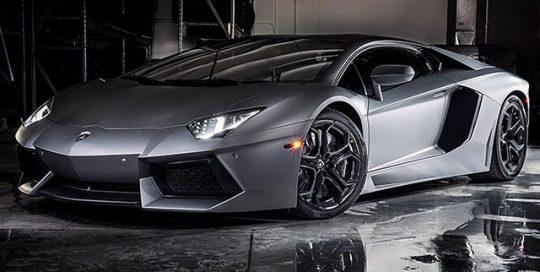 Lamborghini Aventador wrapped in Avery Matte Gunmetal Metallic vinyl
