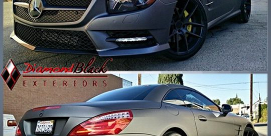 Mercedes Benz wrapped in Avery SW Matte Metallic Charcoal vinyl