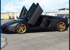Lamborghini Aventador wrapped in 1080 Deep Matte Black