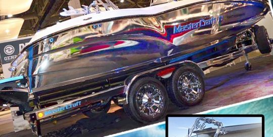 MasterCraft wrapped in Avery Silver Conform Chrome vinyl