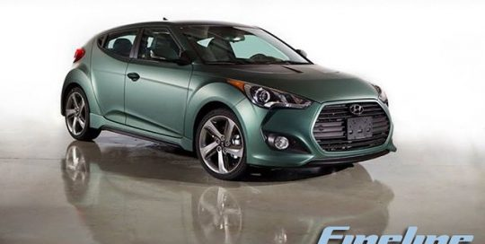 Hyundai Veloster wrapped in 1080 Matte Metallic Pine Green