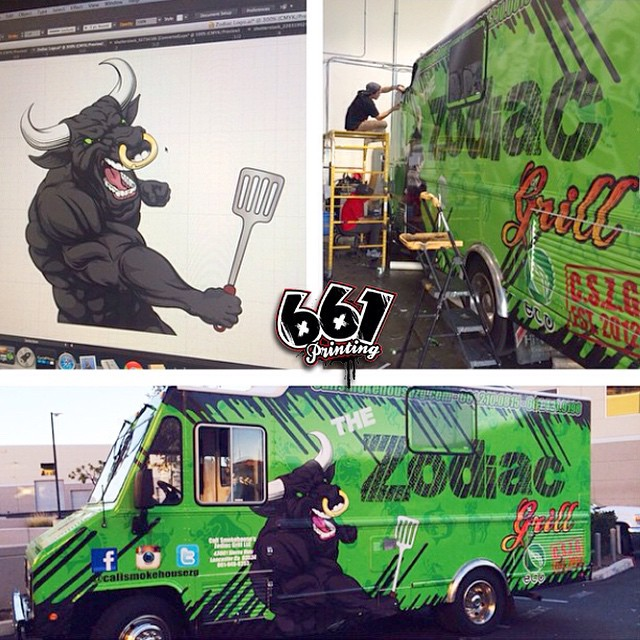 Food Truck wrapped in Avery 1005 Super Cast EZ vinyl