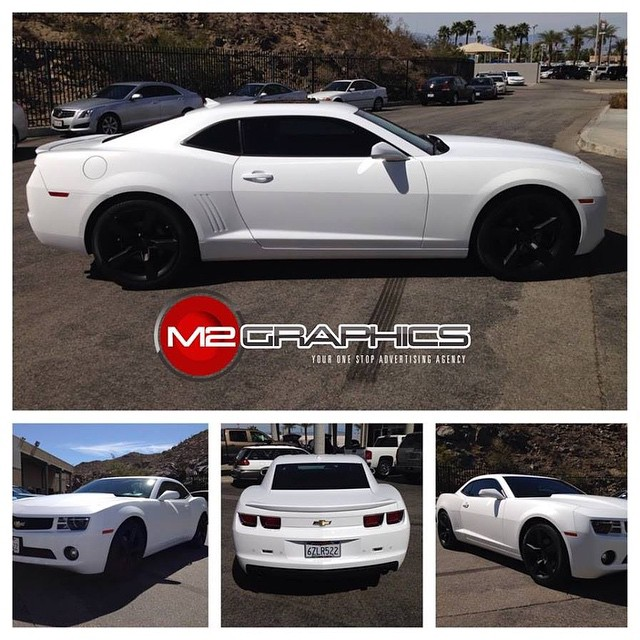 Chevrolet Camaro wrapped in Avery SW Satin White